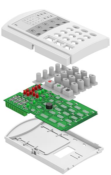 Взрыв-схема панели Контакт GSM-9N